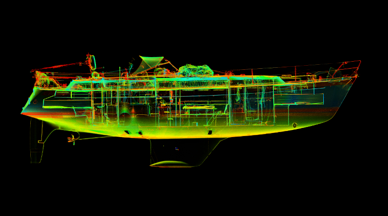 Laserscanning Yachtbau