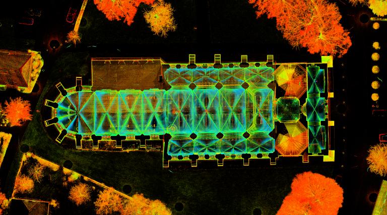 Laserscanning Kirche Grundriss