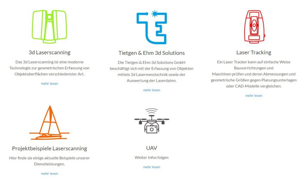 neue Homepage Laserscanning Lasertracking UAV