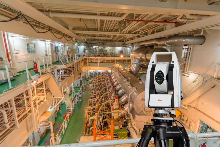 Lasertracking Schiffbau
