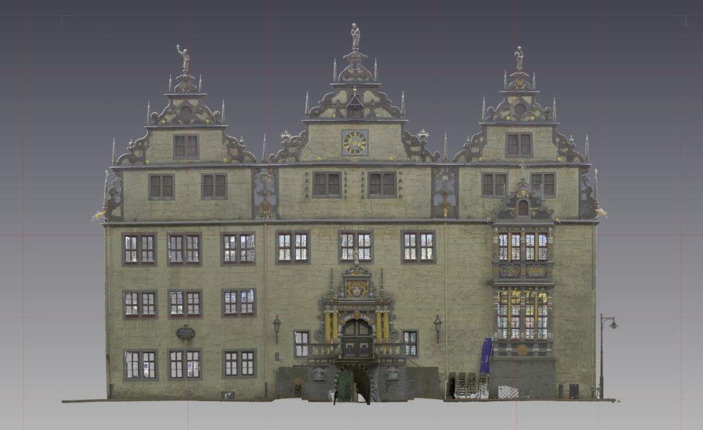 Rathausfassade aus Laserscanning